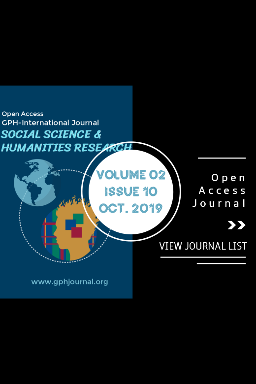 Vol 2 No 10 (2019): GPH-International Journal of Social Science & Humanities Research