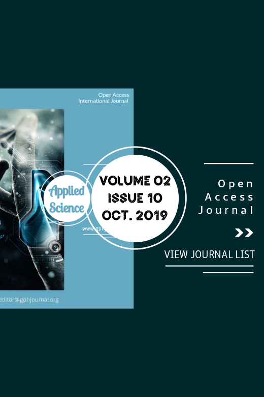 Vol 2 No 10 (2019): GPH-International Journal of Applied Science
